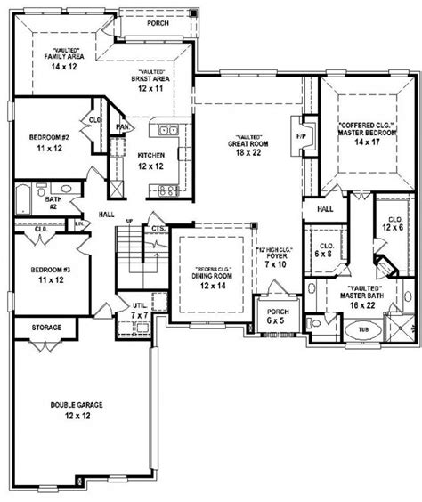 4 bedroom house plan 4 bedroom 3 bath house plans 2017 house plans and home