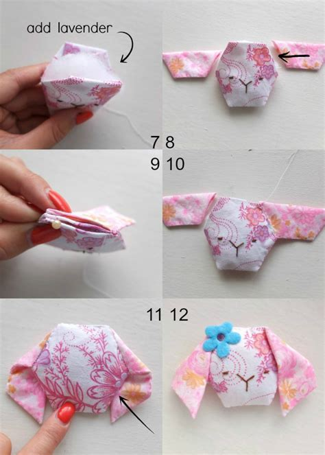How To Make Scented Pillows by Scented Mini Bunny Pillow Poppet Makes