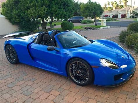 blue porsche spyder voodoo blue porsche 918 spyder te koop voor 1 2 miljoen