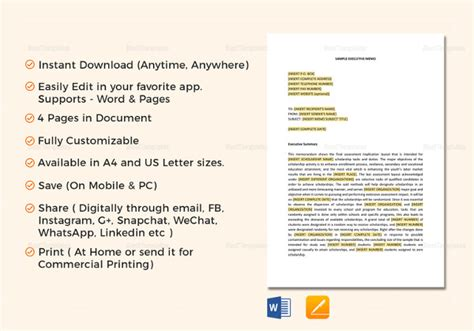 memo template for google docs 7 executive memo exles sles