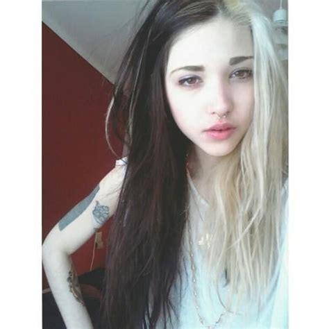 half blonde half brown hair half brown half blonde hair va pinterest my hair i