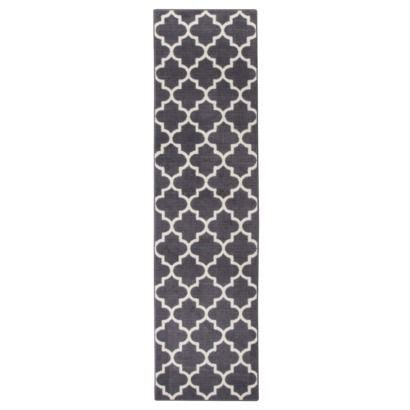 rug runners for hallways target maples fretwork runner charcoal gray 1 10 quot x7 a new rug for my gray and white kitchen