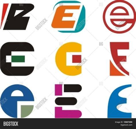 logo e layout alphabetical logo design concepts vector photo bigstock