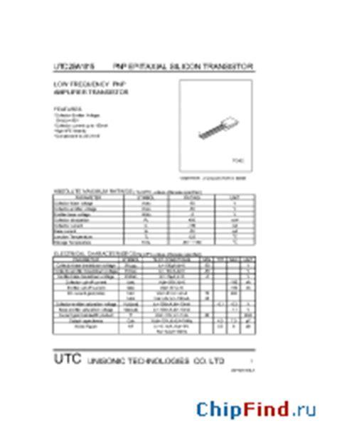 transistor a1015 datasheet a1015 utc pnp epitaxial silicon transistor
