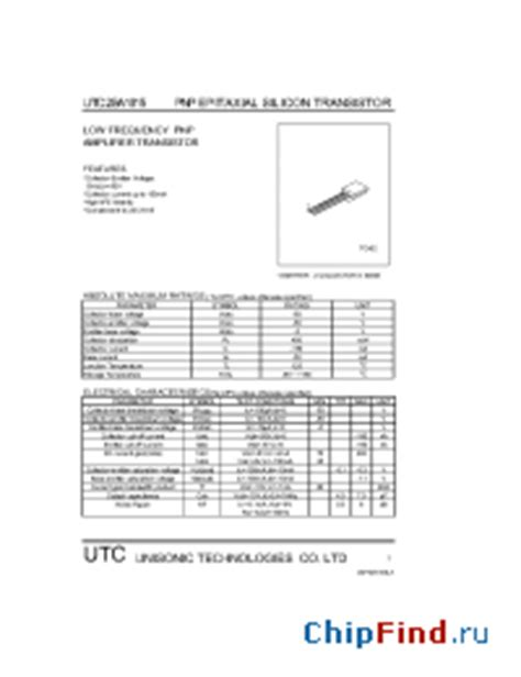 transistor a1015 datasheet pdf a1015 utc pnp epitaxial silicon transistor