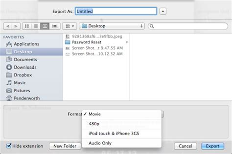 format audio quicktime how to export a video or audio file in quicktime