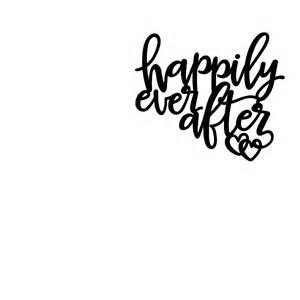 Kitchen Murals Design Happily Ever After Wall Quote Decal