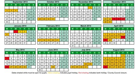 8 best images of printable 2013 14 school calendar 2013