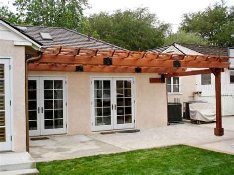 pergola kits attached to house attached garden pergolas