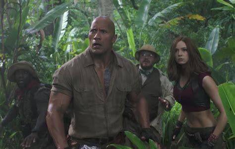 film jumanji trailer jumanji welcome to the jungle watch the film s second
