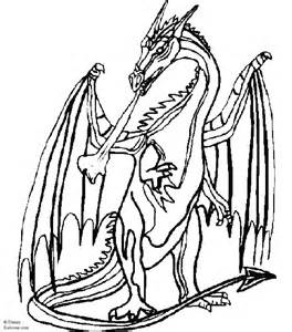 Medieval Dragon Coloring Pages sketch template