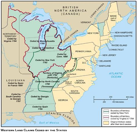 Western Lands ceded by States 1793