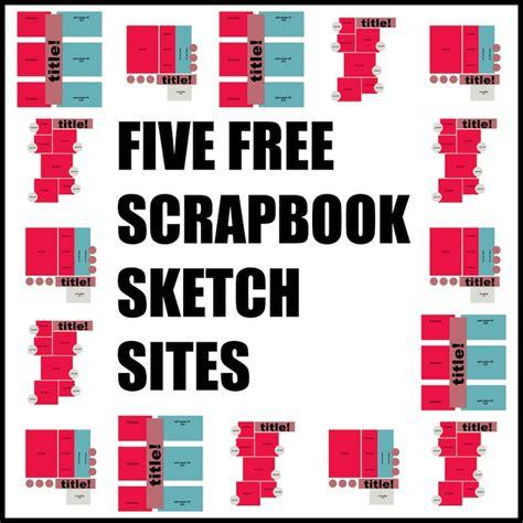 scrapbook layout idea websites free scrapbook sketches five free sites part one