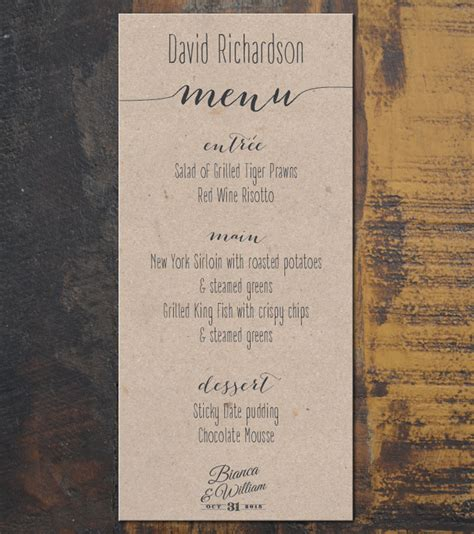 place card templates for great papers 959040 kraft menu place cards invited by kychard