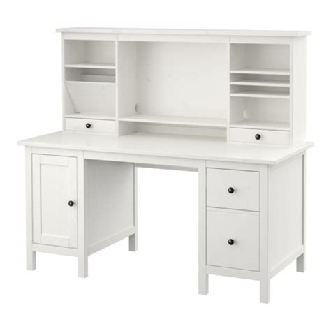 Small White Computer Desk Ikea Hemnes Desk With Add On Unit White Stain Ikea