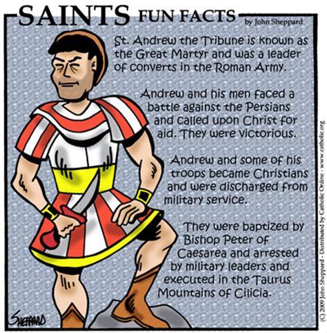 st facts saints facts st andrew the tribune saints
