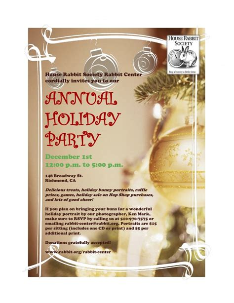 6 best images of company holiday party template company
