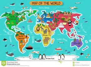 Map of the world stock vector image 51128949