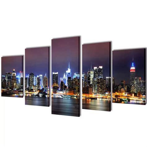 New York Set Murah der bilder dekoration set new york in farbe 200 x 100 cm shop vidaxl de