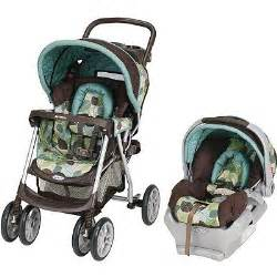 two tuminos and a baby travel system stroller car