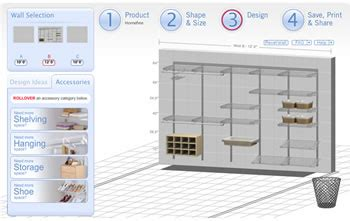 rubbermaid homefree design tool customizing closets rubbermaid