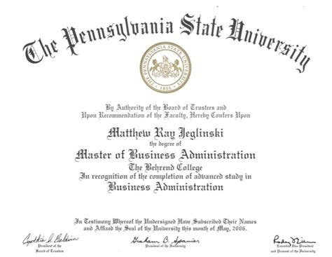 Penn State Mba Program by Penn State Diploma