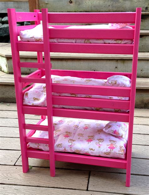 bunk beds for dolls how to build 18 doll triple bunk bed plans pdf plans