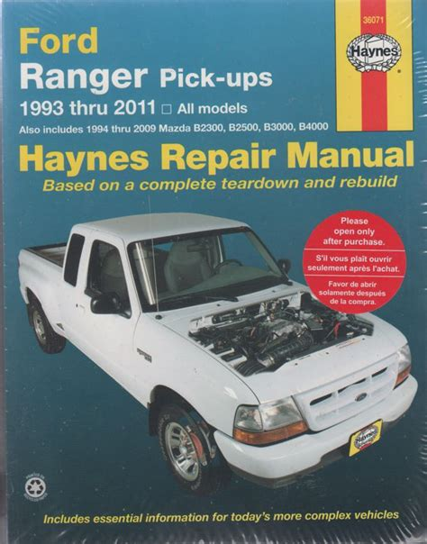 car repair manual download 1987 ford courier on board diagnostic system ford ranger courier mazda pick ups 1993 2011 haynes repair manual workshop car manuals
