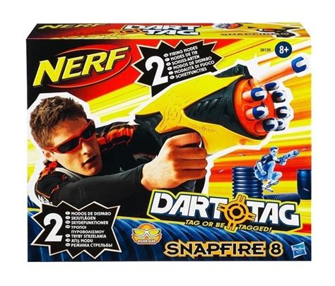 Pistol Nerf Snapfire 8 Dart Tag Original Hasbro nerf dart tag pistolet snapfire 8 fl 233 chettes hasbro