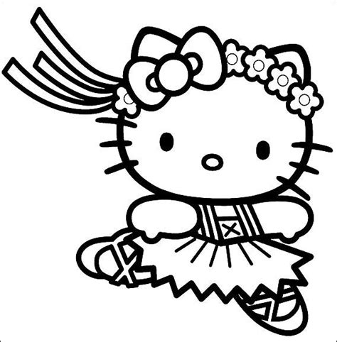 coloring page hello kitty ballerina hello kitty coloring pages