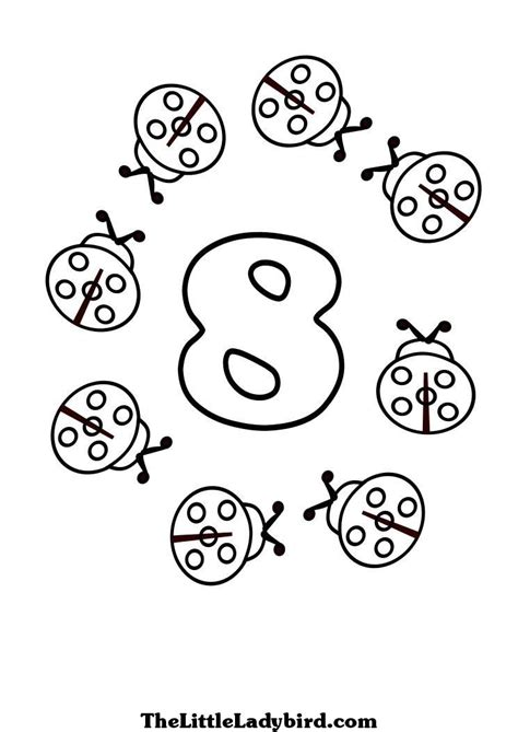 coloring pages for the number 8 free numbers coloring pages thelittleladybird com