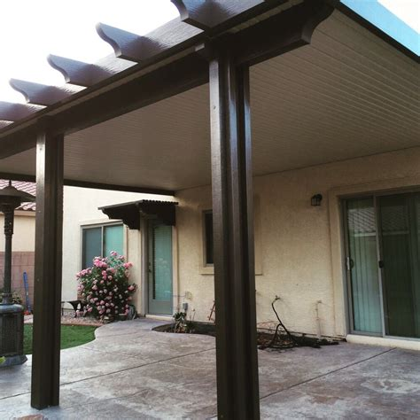 alumawood patio cover exle five solid alumawood patio cover two color combination yelp