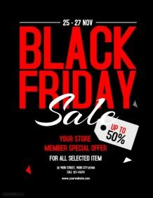 Black Friday Sale Flyer Template customize 620 black friday flyer templates postermywall