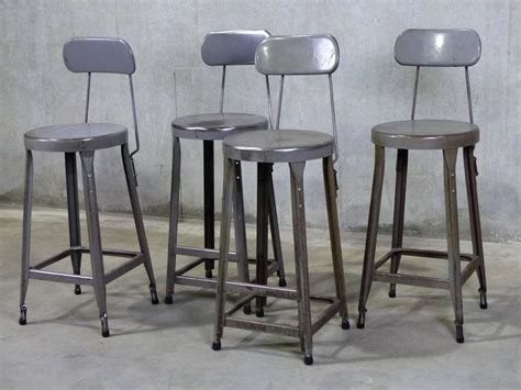 Industrial Counter Height Stools by Set Of Four Counter Height Industrial Stools At 1stdibs