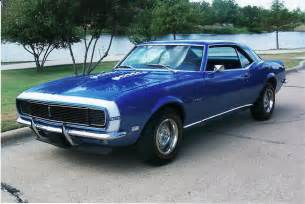 blue 1968 chevrolet camaro rs coupe