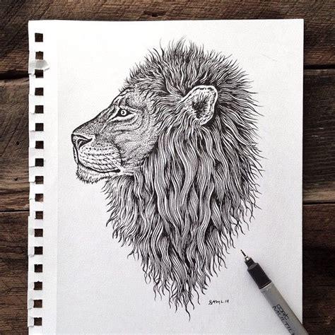 pen tattoo head samlarson s photo tags instagram lion head sketch