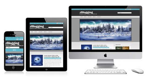 what is a responsive template zblogging free responsive html5 theme zerotheme