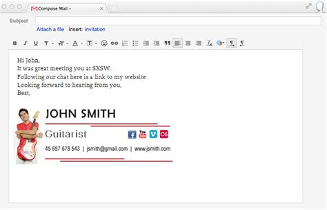 how to layout an email signature the gallery for gt business email signature design
