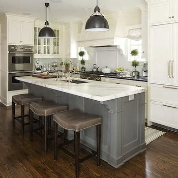 White Kitchen Gray Island by Add More Space In Your Kitchen With Kitchen Islands