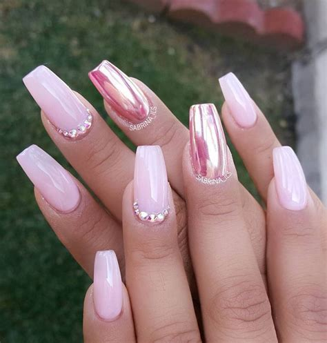 metallic pink 30 casket nails for day and night outs casket nail designs