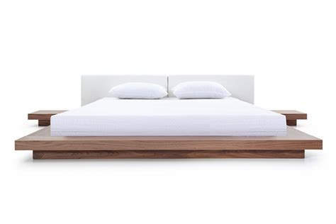 walnut platform bed modrest opal modern walnut white platform bed