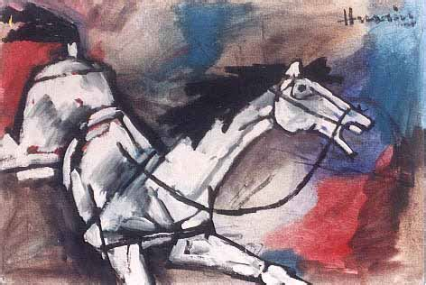 M F Hussain Sketches by Painting By M F Husain