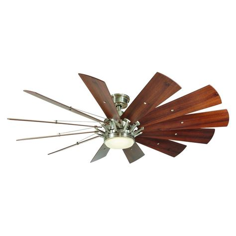 home decorators collection ceiling fan home decorators collection trudeau 60 in led brushed