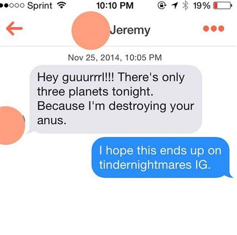 Tinder Nightmares messages that show tinder can be a total nightmare 25 pics