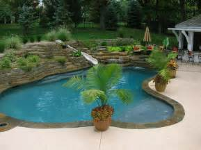 Backyard Pools Spas Backyard Living Tropical Pool Kansas City By Banks
