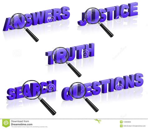 Doj Search Answer Justice Search Question Royalty Free Stock Image Image 14993836