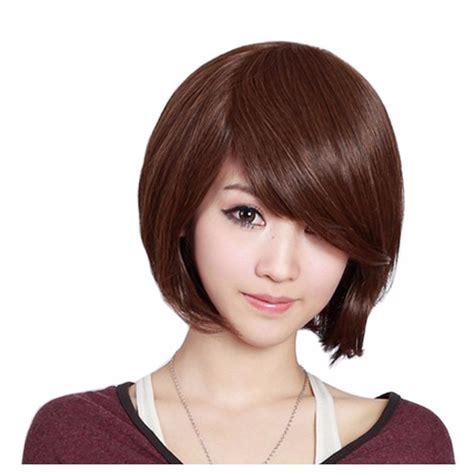 pelo corto y liso cosplay peluca cabello corto liso lacio casta 241 o cafe