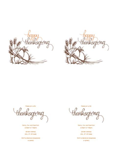 thanksgiving invitation templates office