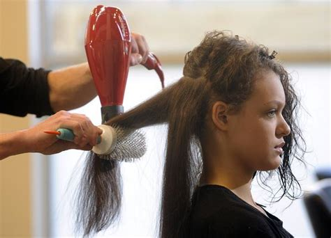 how to section your hair for blow drying blow dry boot c part 2 take hair from curly to