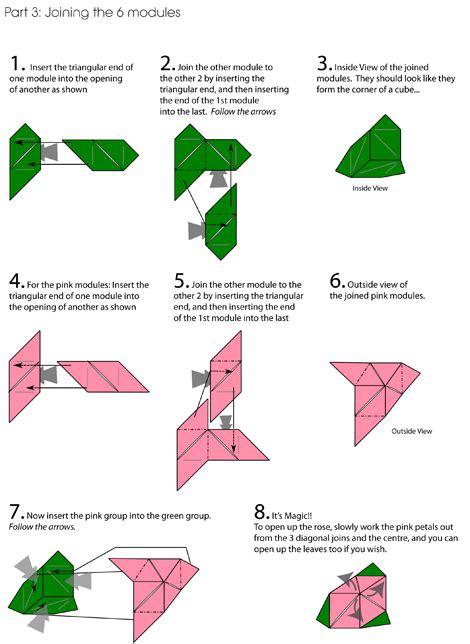 Origami Magic Diagram - cube origami origami
